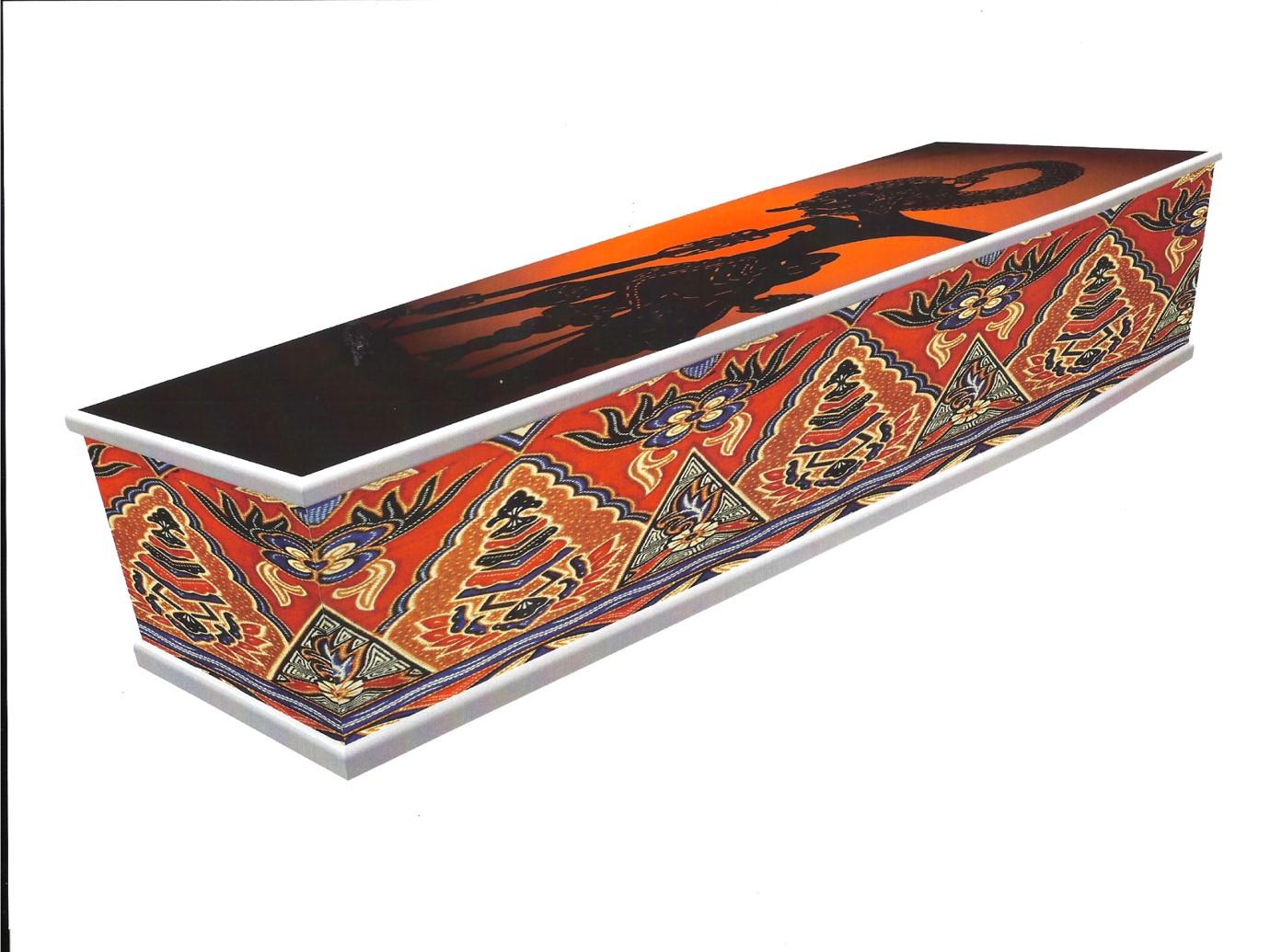 kist met wajang print